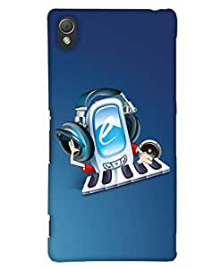 PrintHaat Polycarbonate Designer Back Case Cover for Sony Xperia Z3 Compact :: Sony Xperia Z3 Mini :: Sony Xperia Z3 D5803, D5833 (music lover :: music is my life :: Musical design :: fun :: masti :: enjoyment :: party :: Melody design :: Music rock design :: happiness)