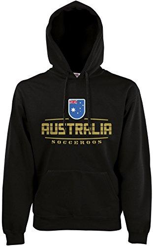 Akytex Australien Australia Fan Hoodie Kapuzenpullover WM2018 Schwarz M (Hoodie Australien)