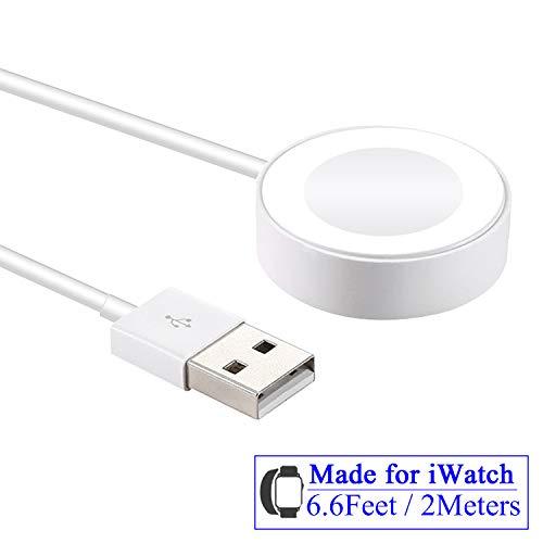 Kabelloses kompatibel für Apple Watch Ladekabel,6.6Feet / 2Meter USB Magnetisches schnelles tragbares Kabel für iWach Serie 4 3 2 1 38mm-42mm -