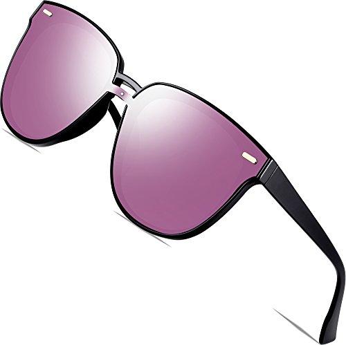 SIPLION Damen Sonnenbrille UV400 Schutz Polarisierte D177 Pink Lens