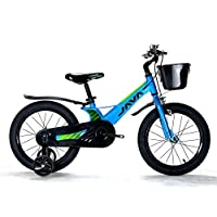JAVA Turbo Alloy Kids Bike,14 16 18 Inch Magnesium Alloy Frame Children Bicycle (Blue, 18 Inch)