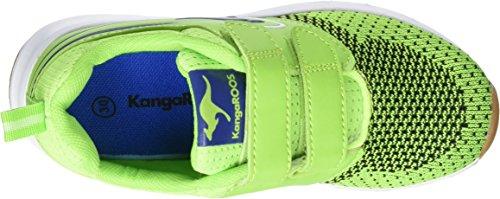 KangaroosRon I V - Pantofole Unisex – Bambini Grün (Lime/Royal)