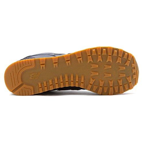 New Balance - Scarpa unisex, grigio(Gris - Grey|orange), 38.5 Navy