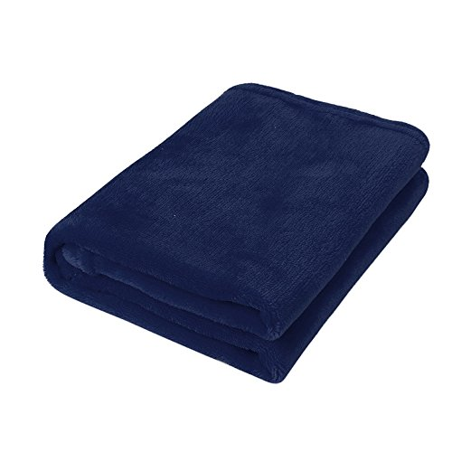 Babydecke COLORFUL Micro Plüsch Fleecedecke, Super Weich Warm,Decke für Baby (Blau, 50 x 70 cm) (Micro-flanell-decke)