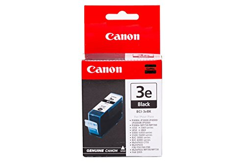 Canon BCI-3e original Tintenpatrone  Schwarz für Pixma Inkjet Drucker iP3000-iP4000-iP4000R-iP5000 (Canon Bci-6 Pc)
