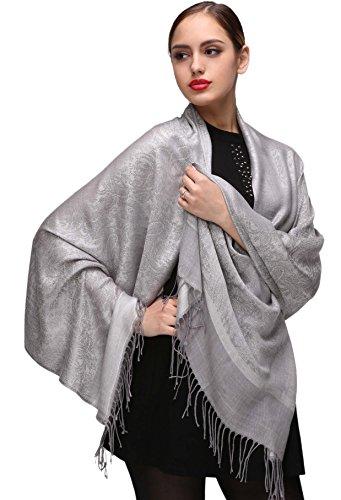 Schal Silber Stola Abendkleid Schultertuch für Damen