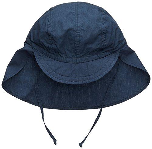 maximo Jungen Mütze Schildmütze, Nackenschutz, Bindeband Blau (Navy 48), 53