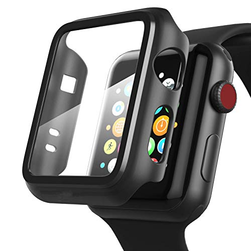 Mi cosa case with screen guard for apple watch compatible with 44 mm (For series 4 and 5)
