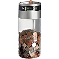 Large Mega Size Money Bank Saving Jar Digital Coin Counter Box With LCD Display & Manual Counting Control For Withdraw and Note Deposit Accepts All UK Coins Including The New £1