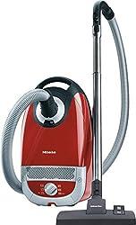 Miele Complete C2 Tango EcoLine Bodenstaubsauger (mit Beutel, EEK A+, 4, 5 Liter Staubbeutelvolumen, 550 Watt, 11 m Aktionsradius, integriertes dreiteiliges Zubehör) rot