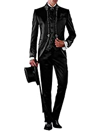 Suit Me 3 pezzi vestito da partito collo a fascia abito da sposa uomini con  la c26ae786639