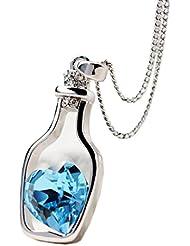 Collar para mujer, FEITONG Botellas collar de la mujer de las señoras de la manera populares en Crystal Amor Drift