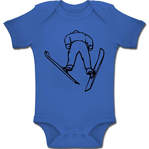 Sport Baby - Skisprung - 1-3 Monate - Royalblau - BZ10 - Baby Body Kurzarm Jungen ()