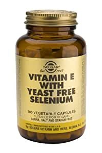 Solgar-Vitamin E with Yeast-Free Selenium- 100 Vegetable Capsules