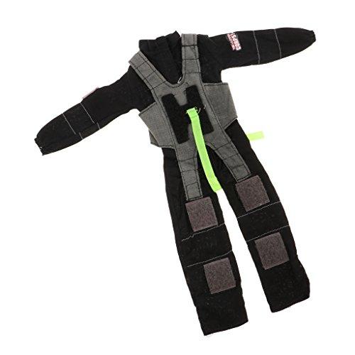 Baoblaze 1/6 Soldat Puppen Kleidung - Feuerwehr Mann Uniform Kostüm Anzug