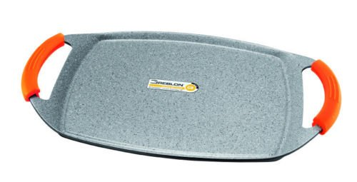 INOXIBAR noxibar Absolut 18237 - Plancha en fonte d'aluminium 37 x 25 cm. Spécial pour four.