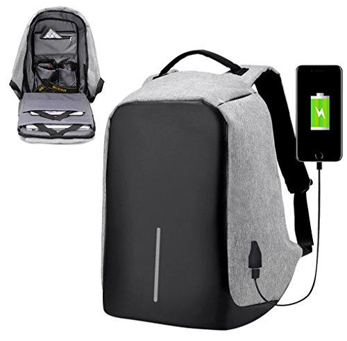 f32a71a51a4b Bags us Anti-theft Laptop Backpack with USB Charging Port Travel Bag  Schoolbag W