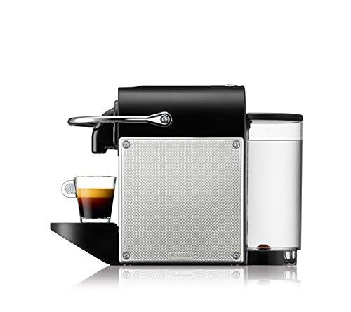 De'Longhi Nespresso EN 125.S Kapselmaschine Pixie Electric | 1260 Watt | 0,7 Liter | Flexible Tassen-Abstellfläche für verschiedene Gläser | silber