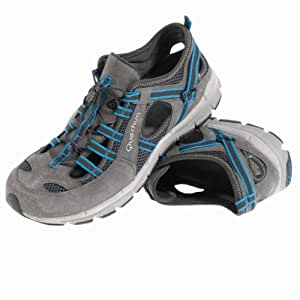 QUECHUA ARPENAZ 300 SANDALS MEN'S LIGHT HIKING SHOES, GREY/BLUE (41)