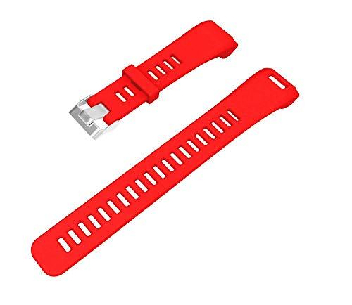 Vamoro Ersatzarmband aus weichem Silikonarmband für Garmin Vivosmart HR Silikonband Ersatz Uhren-Armband Ersatzband Uhrenarmbänder(Rot)