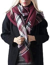 DiaryLook Fashionable Winter Warm Large Tartan Blanket Plaid Scarf Wrap Shawl