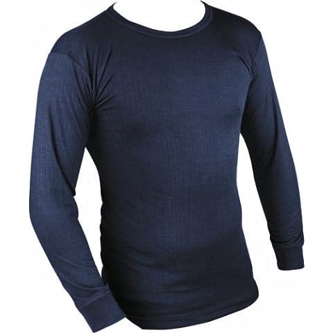 Highlander - Maglia termica a maniche lunghe, strato base, uomo, Blu (Blu navy), xx-large