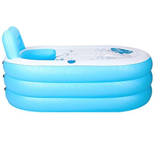 JCOCO Aufblasbare Badewanne 150 * 88cm Erwachsener Haushalt Eindickung Übergroße tragbare Falten Badewanne Isolierung Durable leicht zu reinigen -