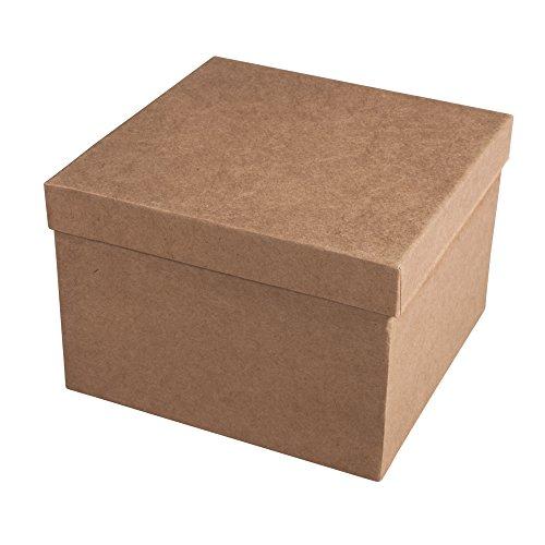 Rayher 71754000 Pappmachà Schachtel FSC Recycled 100%, 15,5x15,5x10,5c