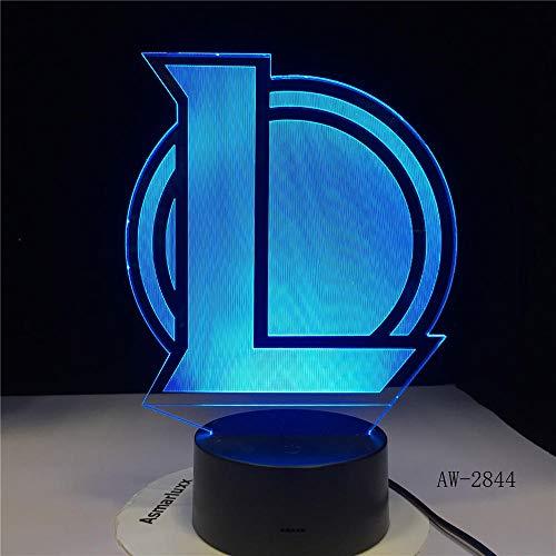 3D Bluetooth Touch Nachttisch LampL Team 3D LED Lampe Nachtlicht Baby 7 Farbwechsel Acryl Touch Switch Toilettenlampe USB Energy Saving Desk Lampe AW-2844