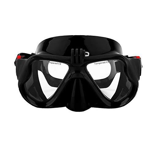 KNOSSOS Unterwasserkamera Plain Diving Mask Scuba Schnorchel Schwimmbrille für Gopro - Schwarz