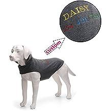 Amakunft Chaleco de forro polar para perro con nombre, nombre bordado, para perros pequeños