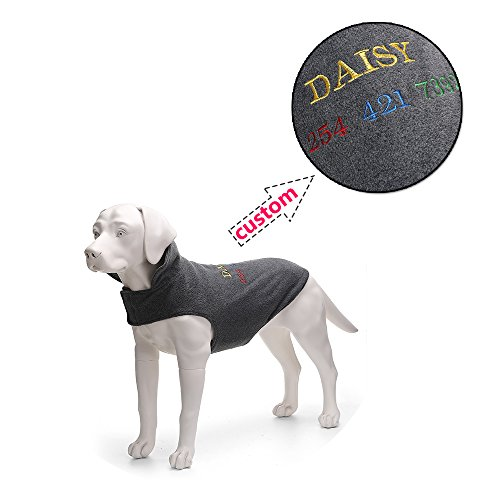 (Amakunft passen Fleece-Weste mit Sportschuhe mit Hunde-Mantel Personalisierte Hunde-Kleidung für kleine, mittelgroße und große Hunde)