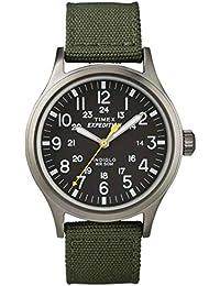 Timex Expédition Scout - Reloj análogico de cuarzo con correa de nailon para hombre, Verde (Verde/Negro)