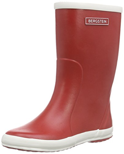 Bergstein Bn Rainbootr, Bottes en caoutchouc de hauteur moyenne, doublure froide mixte enfant Rouge - Rouge
