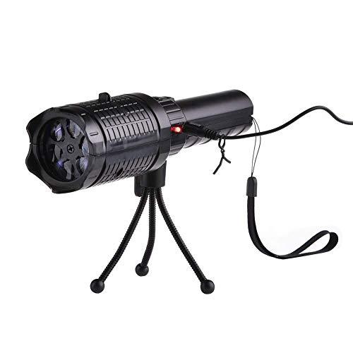 LoveVV Weihnachts-Projektionslampe Taschenlicht Weihnachtsprojektionslampe 12 Muster Film-Projektionslampe weiße Schneeflocken-Projektionslampe