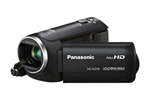 Panasonic V210 Full HD Camcorder - Black (10 MP, 1920 x 1080P, 1MOS Sensor, 72x Intelligent Zoom) 2.7 inch LCD