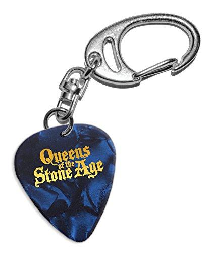 Queens Of The Stone Age Púa de Guitarra Llavero Keyring Blue Pearl ( GHF )