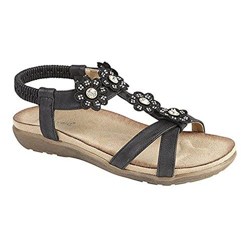 Boulevard - Sandali estivi con cordino elasticizzato alla caviglia - Donna Bianco