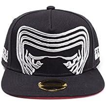 Star Wars del casquillo del Snapback Kylo Ren Basecap El último Jedi negro
