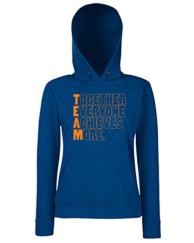 T-Shirtshock - Sweats a capuche Femme WC0586 TEAM - Together Everyone Achieves More Bleu Navy