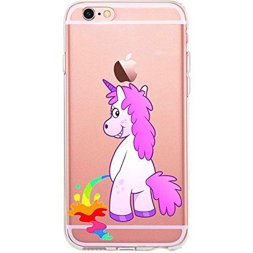 GIRLSCASES®   iPhone 6-6S Hülle   Mit coolen Spruch Aufdruck Motiv   Smile   Case transparente Schutzhülle   Farbe: weiß   Einhorn 11