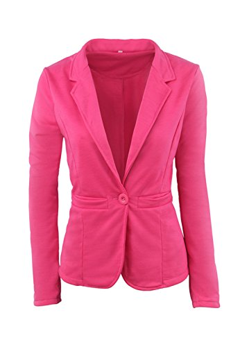 Le Maniche Lunghe Blazer Bodycon Outwear Cappotto  Red