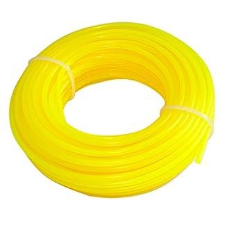 AERZETIX: Hilo de nylon perfil redondo 2.4mm 15m para desbrozadora C18549