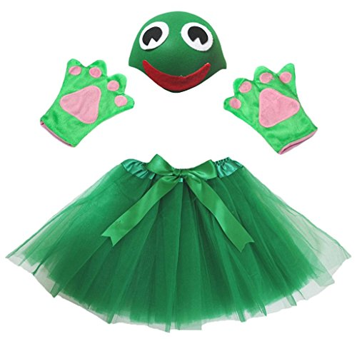 Snake Kostüm Girl - Petitebelle Snake Hat Handschuhe Rock Girl Kinder 3pc Kostüm Zubehör Einheitsgröße Grün