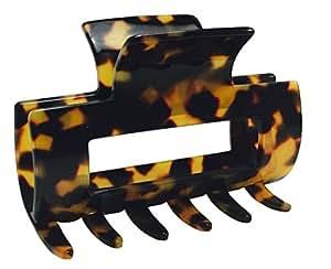French Amie Geo Medium Tokyo Handmade Leopard Celluloid Jaw Hair Claw Clip (Tokyo)
