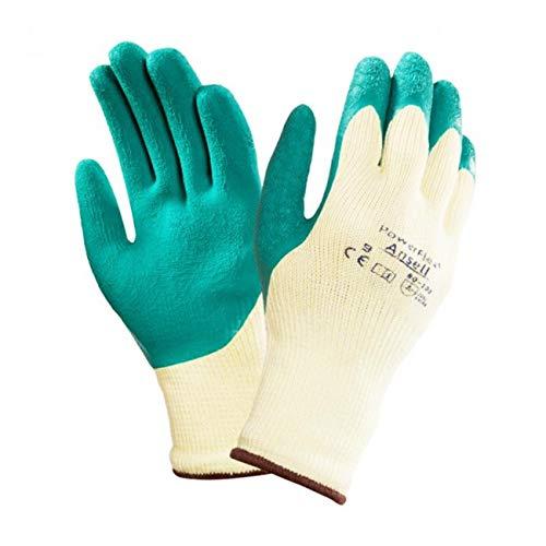 Ansell 80-100Powerflex Latex beschichtet Greifer Handschuhe X 2Paar Gr. Wahl, UK 10 XL X 2 Pairs, 2 -