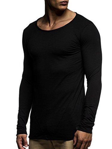 LEIF NELSON Herren Basic Longsleeve Pullover Hoodie Sweatshirt Rundhals Oversize Sweater Langarm-Shirt LN6302 S-XXL;