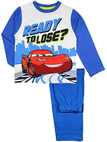 Disney Cars Lightning McQueen Langarm Pyjama (5 Jahre, Blau)