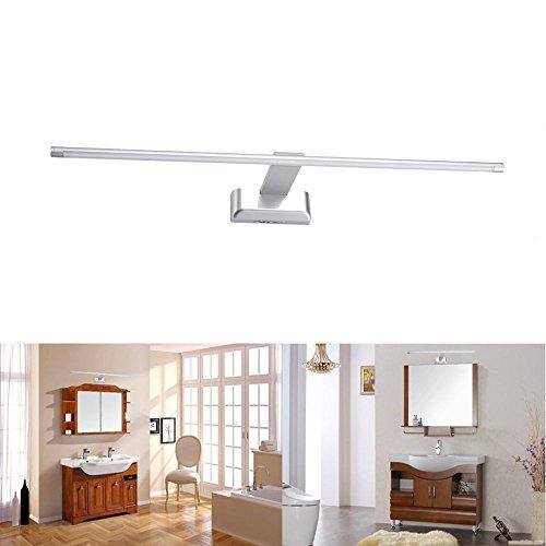 SUBOSI 9W 48 LED 2835 SMD Lámpara de Pared para Baño Espejo Aplique Luz Acero Inoxidable Blanco