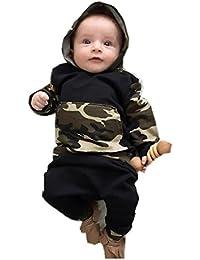 Ropa de bebé, RETUROM Camuflaje Bebé Niños Sombreros con Capucha + Pantalones Largos Set Ropa